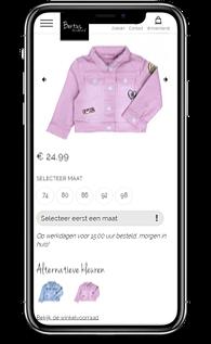 Bertus Mode webshop mobile