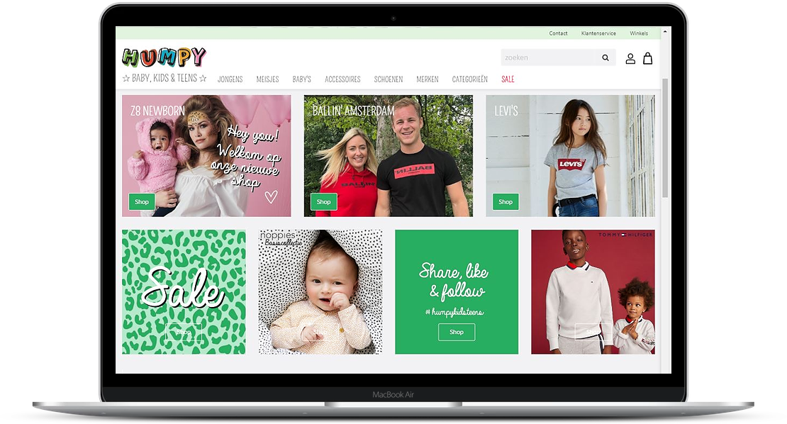 Humpy nieuwe webshop