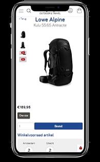 Kathmandu product view mobile