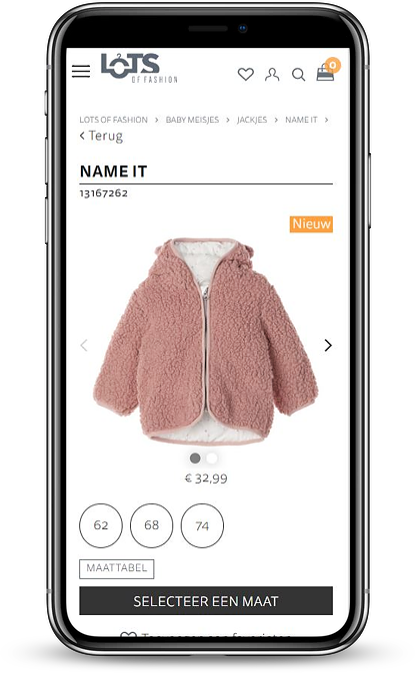 Lots of Fashion product view mobile