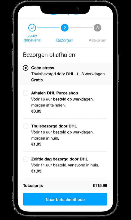 Sans Online mobile checkout