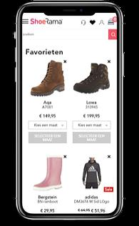 ShoeRama favorieten in webshop