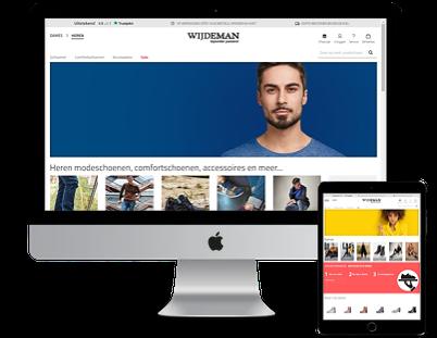 Wijdeman homepage webshops