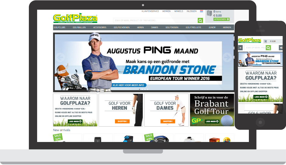 Golfplaza | Factif - Unieke e-commerce oplossingen Golfplaza